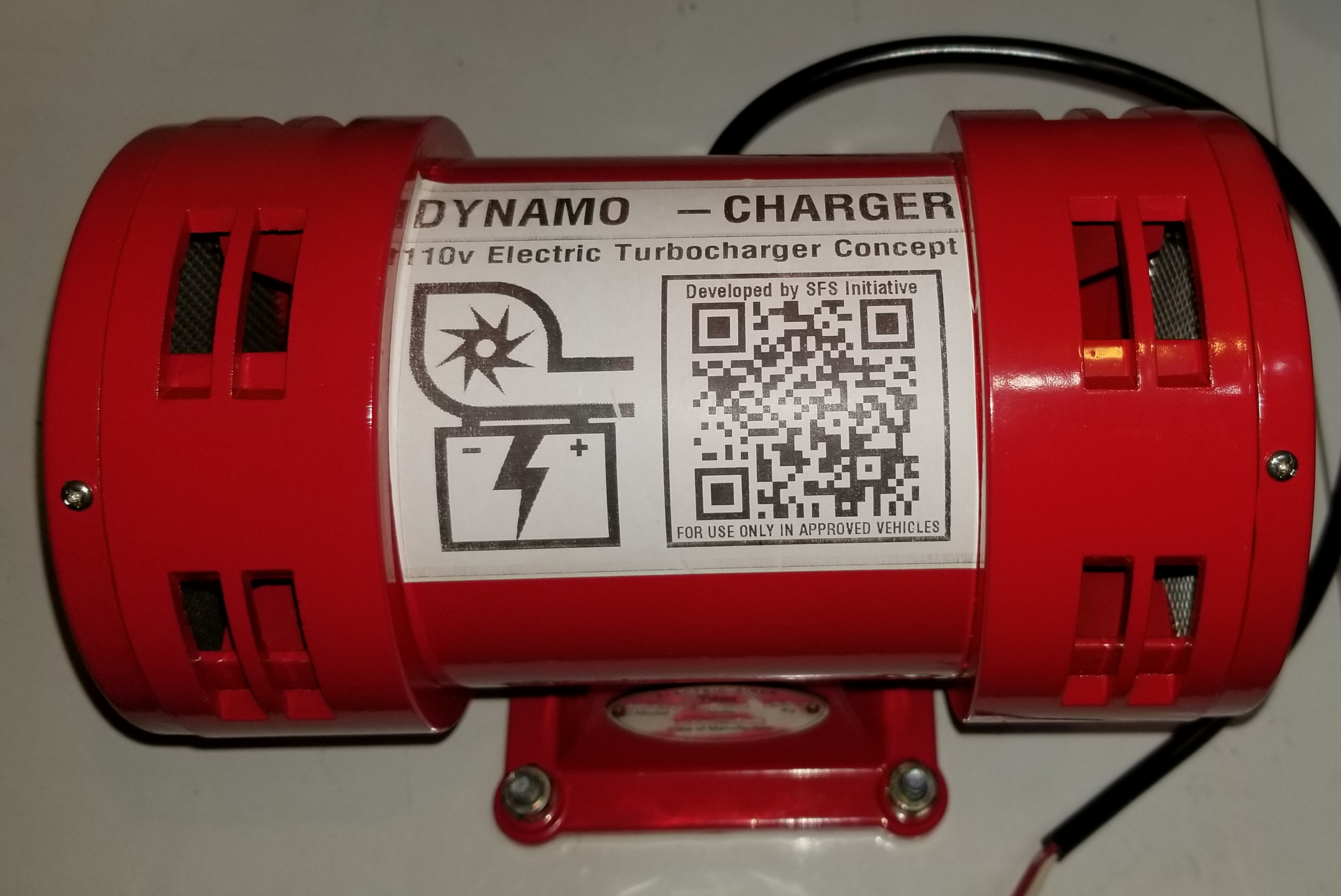 The Dynamo-Charger's Air Raid siren core, before modification.